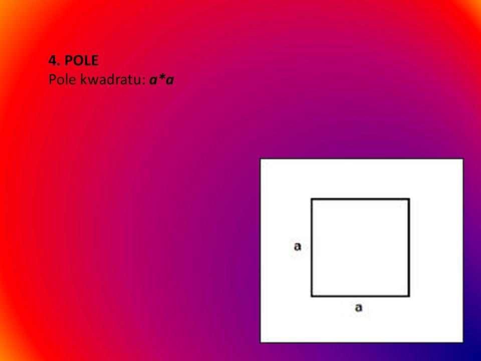 3. KĄTY Kwadrat ma wszystkie kąty proste i zawsze ich suma wynosi 360 stopni.