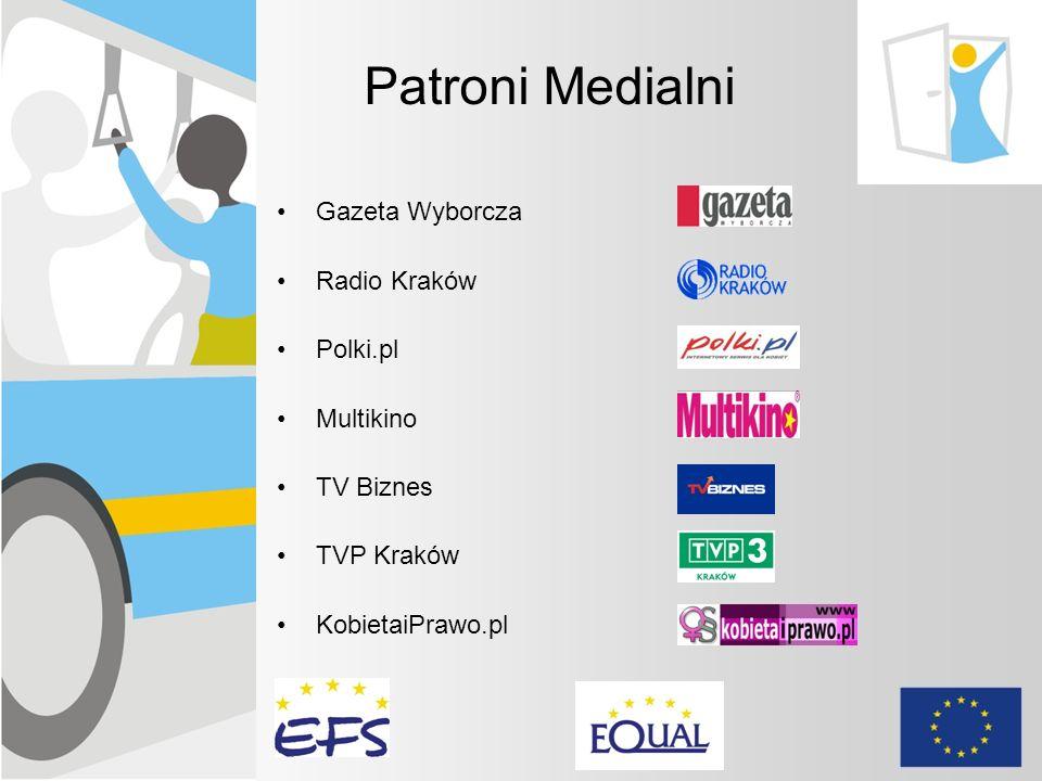 Patroni medialni Gazeta Wyborcza Radio Kraków Patroni Medialni Gazeta Wyborcza Radio Kraków Polki.pl Multikino TV Biznes TVP Kraków KobietaiPrawo.pl