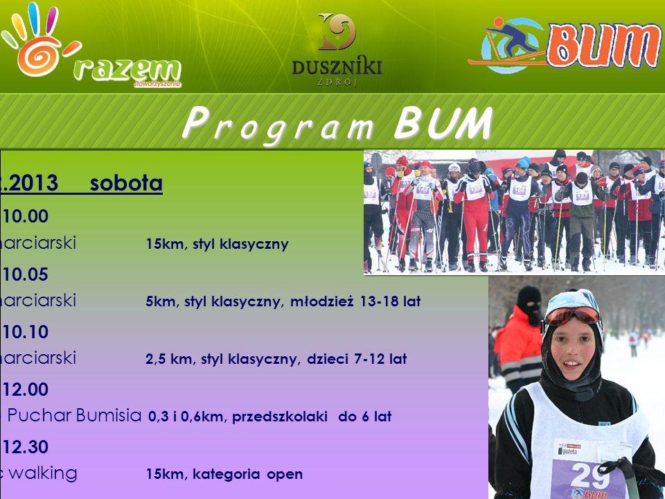 09.02.2013 sobota godz. 10.00 bieg narciarski 15km, styl klasyczny godz.