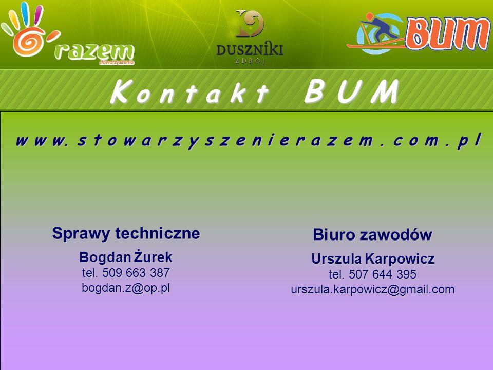 K o n t a k t B U M Sprawy techniczne Bogdan Żurek tel.