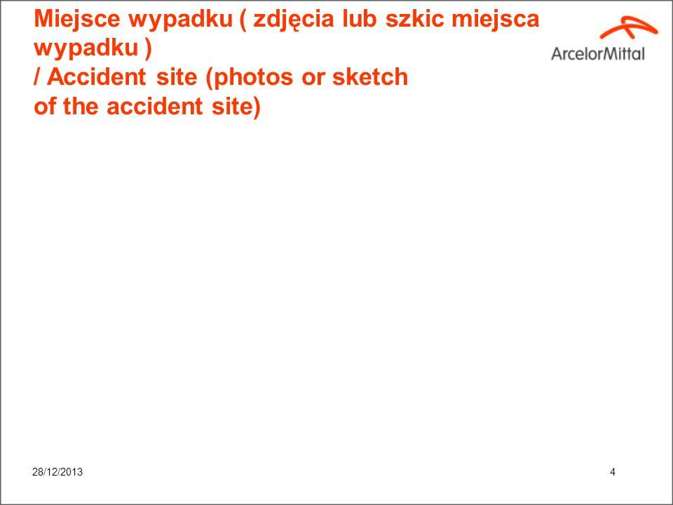 28/12/20133 Ogólny zarys okoliczności / Overview of accident circumstances: