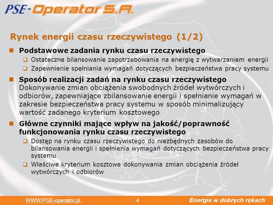 Energia w dobrych rękach WWW.PSE-operator.pl.