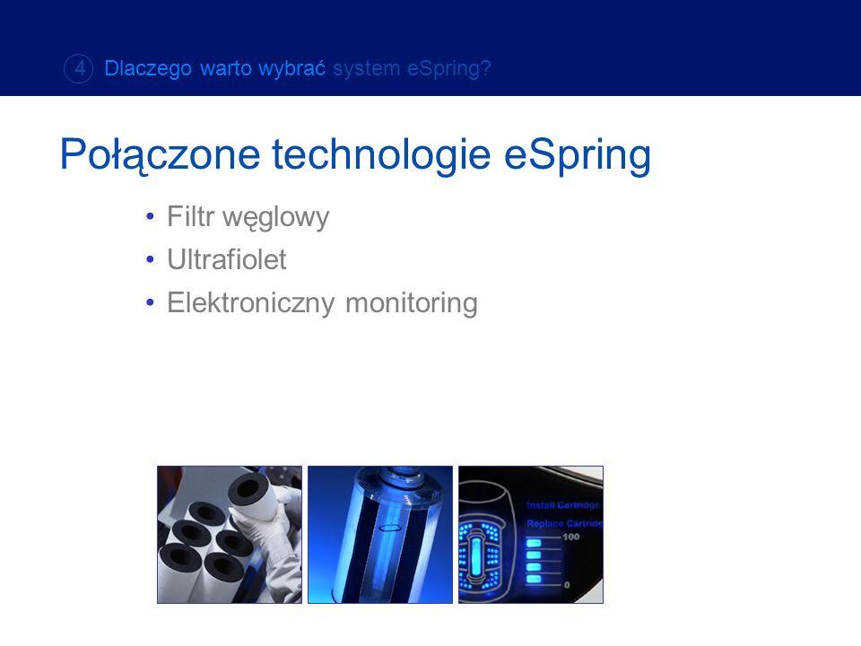 Elektroniczny monitoring 4 Dlaczego warto wybrać system eSpring? Połączone technologie eSpring Filtr węglowy Ultrafiolet