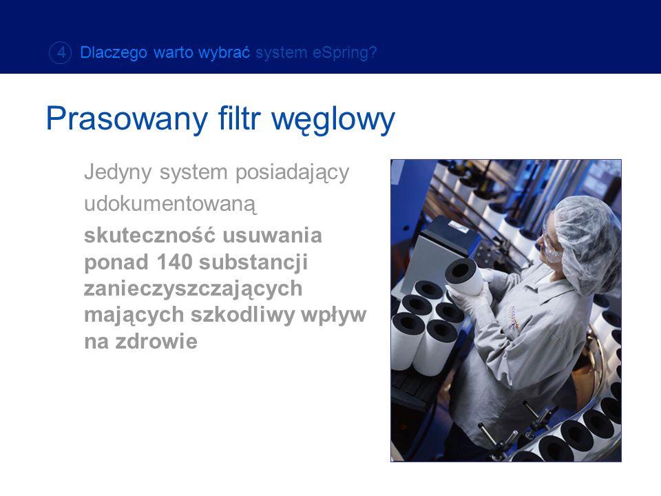 Jedyny system posiadający udokumentowaną skuteczność usuwania ponad 140 substancji zanieczyszczających mających szkodliwy wpływ na zdrowie Prasowany f