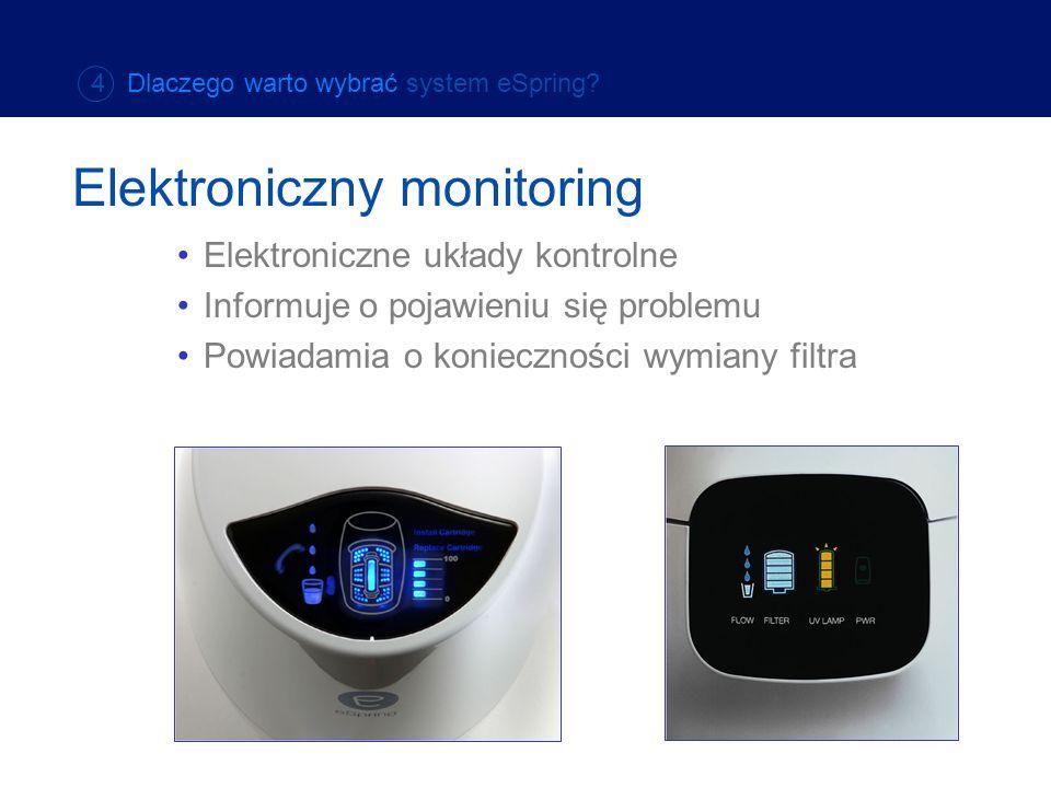 Elektroniczne układy kontrolne Informuje o pojawieniu się problemu Powiadamia o konieczności wymiany filtra Elektroniczny monitoring 4 Dlaczego warto