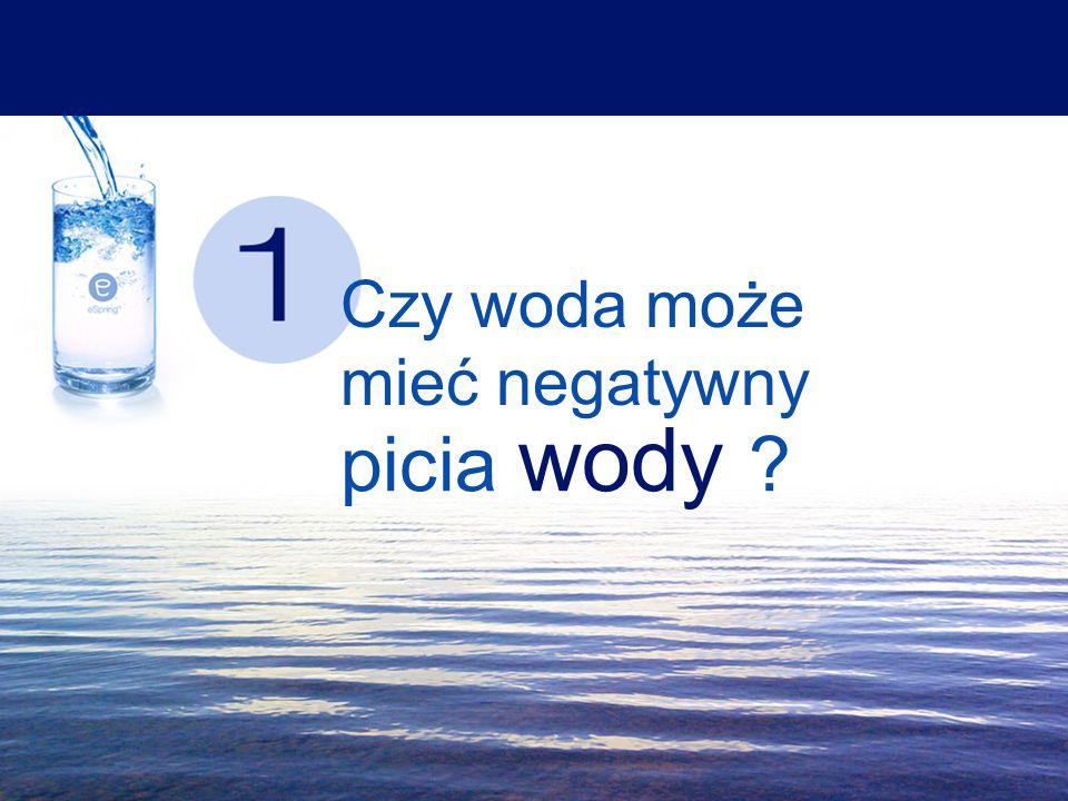 Czy woda może mieć negatywny picia wody ?