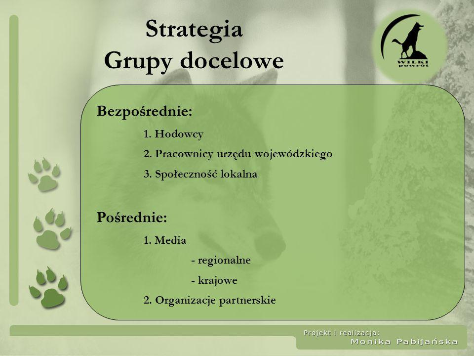 Sformułowanie strategii Zbudowanie świadomości na temat roli wilka i potrzeby jego ochrony w grupach docelowych poprzez działania o charakterze edukacyjnym i informacyjnym w Bieszczadach w latach 2007-2008.