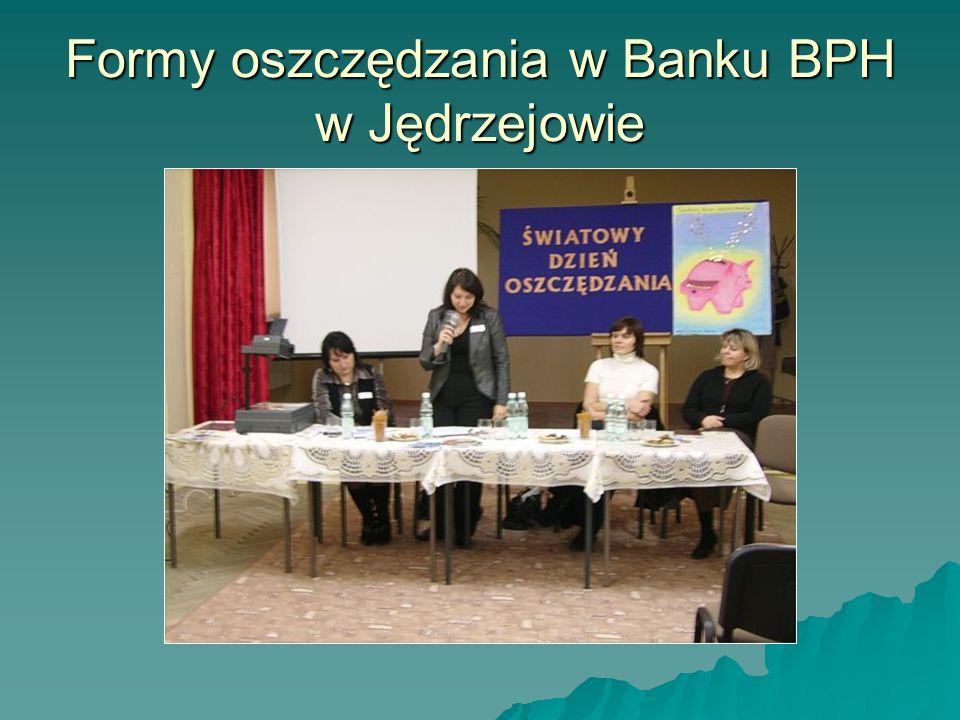 Formy oszczędzania w Banku BPH w Jędrzejowie