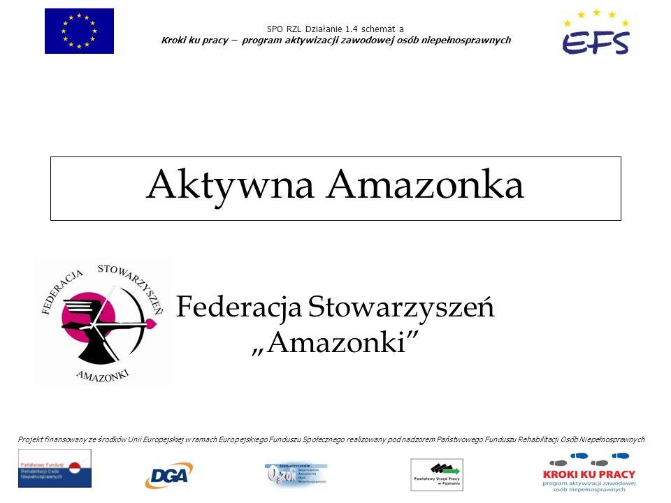 SPO RZL Działanie 1.4 schemat a Kroki ku pracy – program aktywizacji zawodowej osób niepełnosprawnych Projekt finansowany ze środków Unii Europejskiej