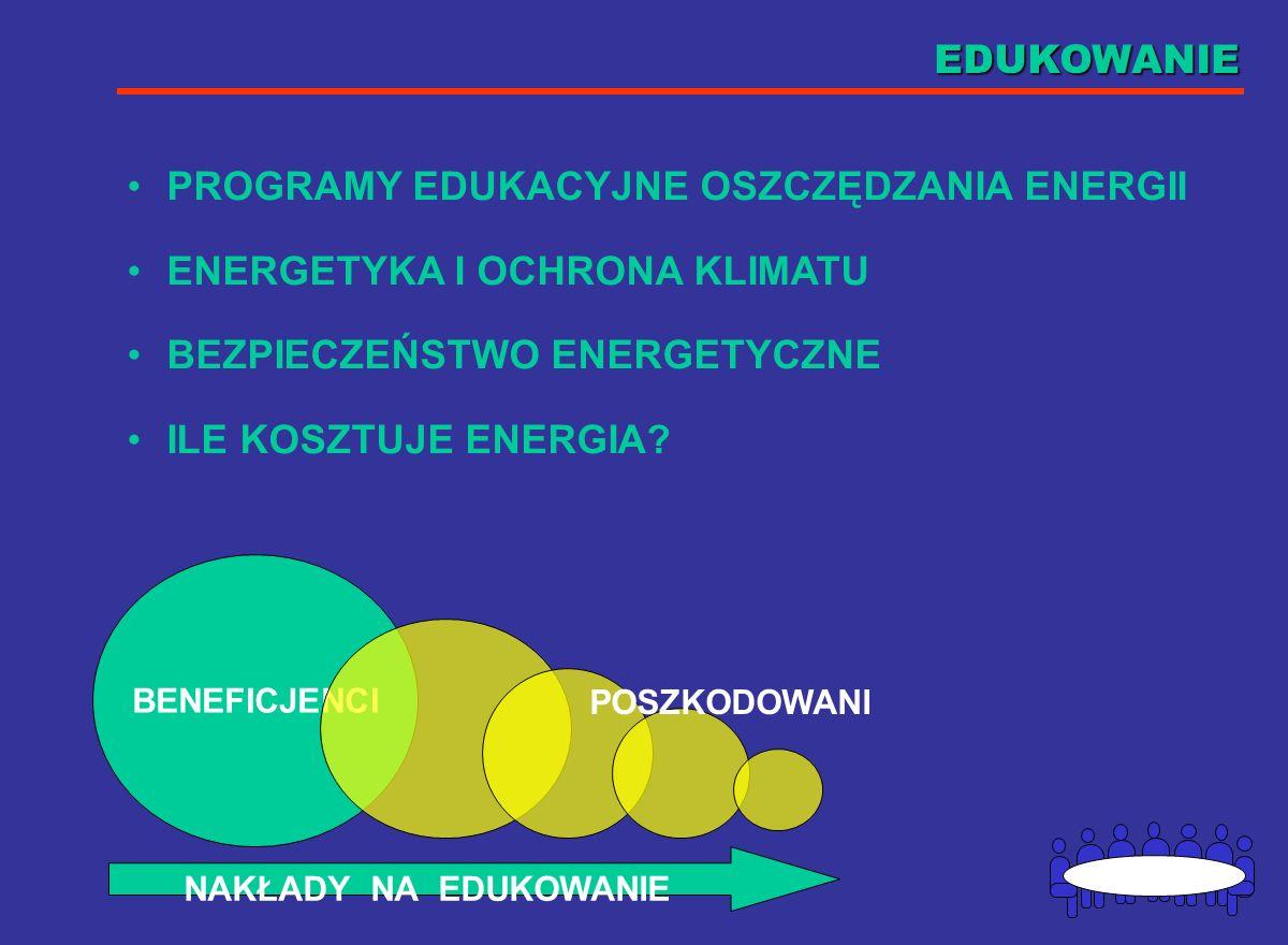 PREDSTAWICIELI DUŻYCH FIRM ENERGETYKI ZAWODOWEJ PRZEDSTAWICIELI INTERESU ODNAWIALNYCH ŹRÓDEŁ ENERGII POZARZĄDOWE ORGANIZACJE EKOLOGICZNE POLSKĄ AGENCJ