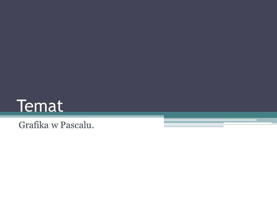 Temat Grafika w Pascalu.