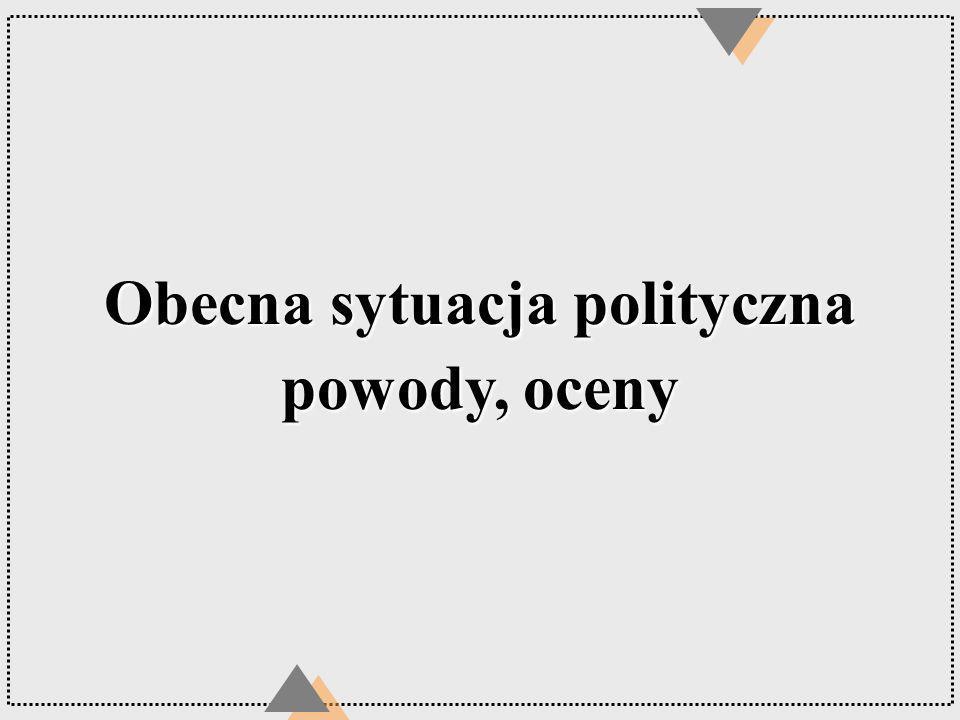 Obecna sytuacja polityczna powody, oceny
