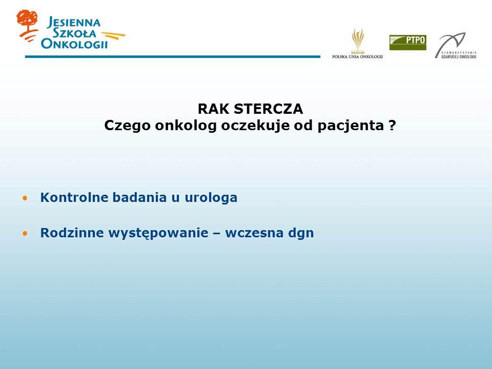 NOWOTWORY STERCZA Rozpoznanie – biopsja pod kontrolą usg (TRUS) Odpowiedni dobór leczenia PSA < 20ng/ml – radykalne leczenie miejscowe –Leczenie opera