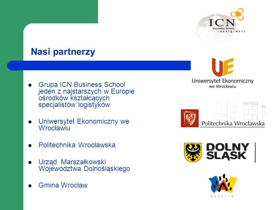 Nasi partnerzy Grupa ICN Business School jeden z najstarszych w Europie ośrodków kształcących specjalistów logistyków Uniwersytet Ekonomiczny we Wrocł