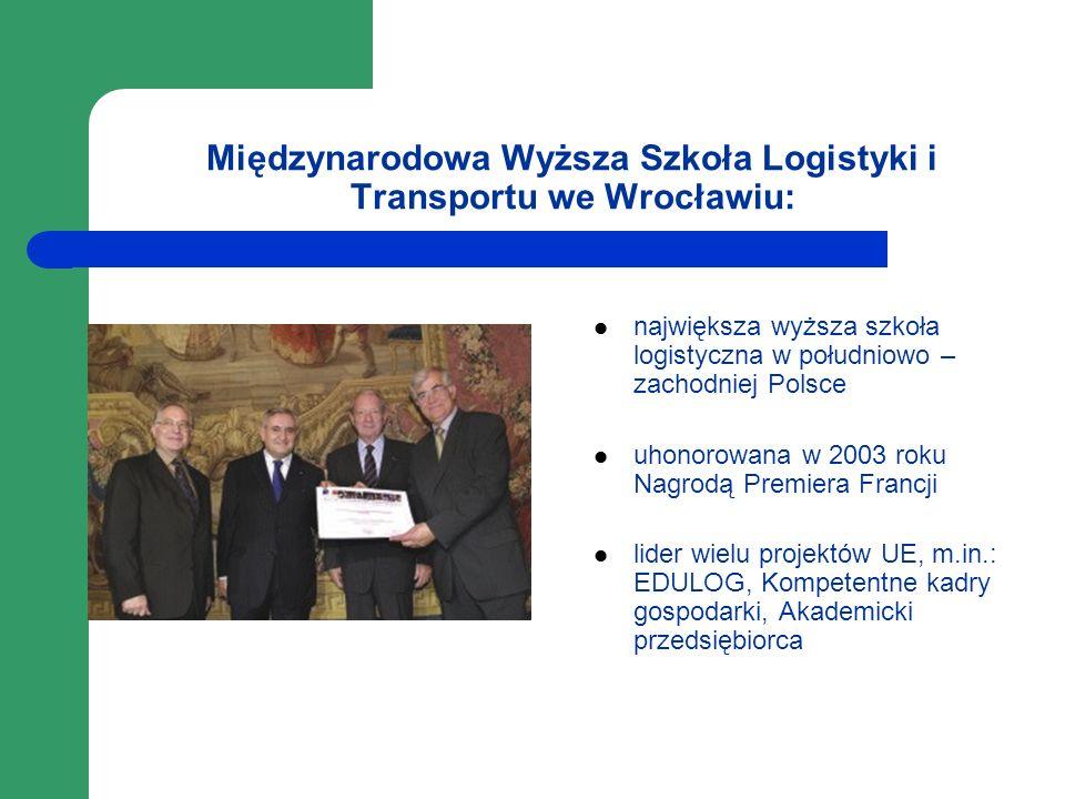 Międzynarodowa Wyższa Szkoła Logistyki i Transportu we Wrocławiu: największa wyższa szkoła logistyczna w południowo – zachodniej Polsce uhonorowana w