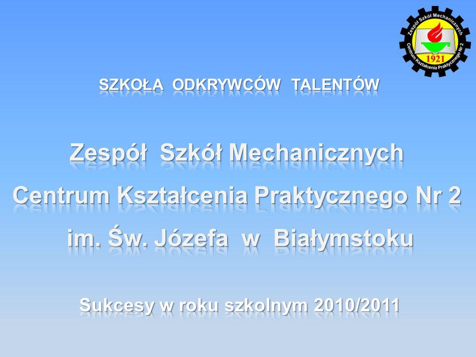 Piotr Jeleniewski i Kamil Surówka tytuł finalistów, praca: Adaptacja klasycznych silników spalinowych do zasilania sprężonym powietrzem opiekun: Wojciech Szoka