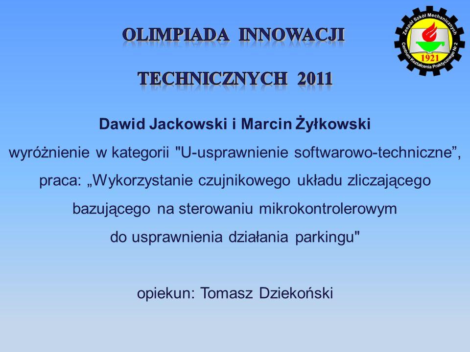 Dawid Jackowski i Marcin Żyłkowski wyróżnienie w kategorii