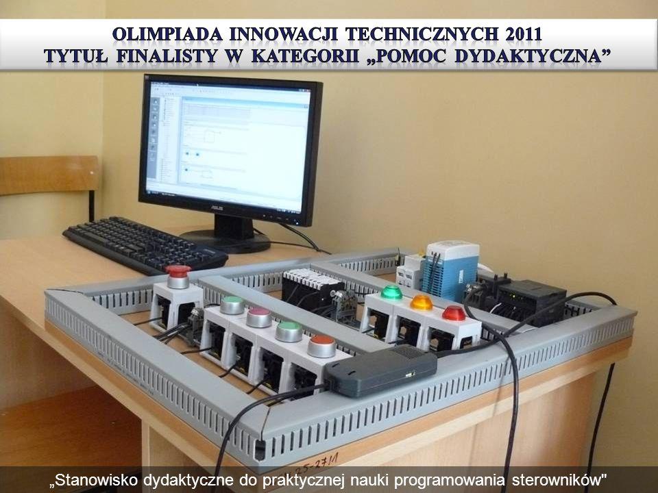 Stanowisko przygotowane do ćwiczeń z obsługi programowania sterowników PLC Stanowisko dydaktyczne do praktycznej nauki programowania sterowników