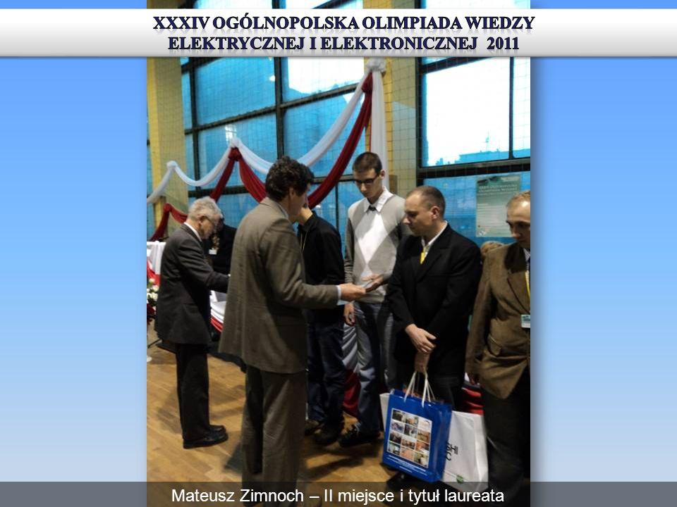 Mateusz Zimnoch – II miejsce i tytuł laureata