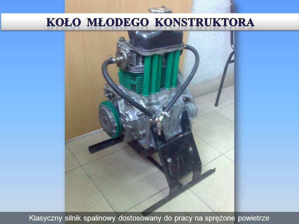Klasyczny silnik spalinowy dostosowany do pracy na sprężone powietrze