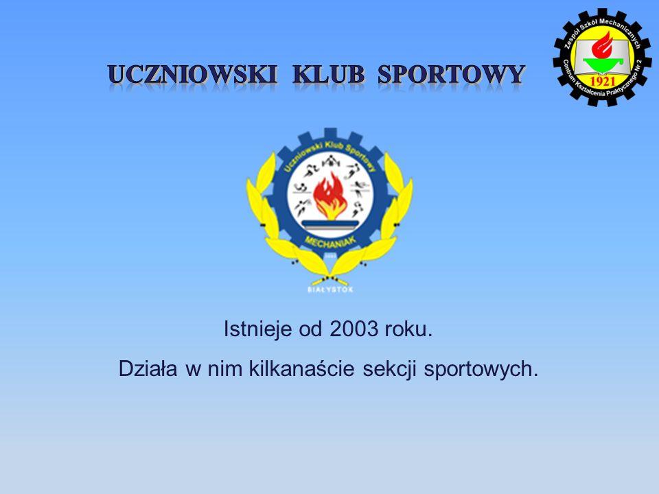 Istnieje od 2003 roku. Działa w nim kilkanaście sekcji sportowych.