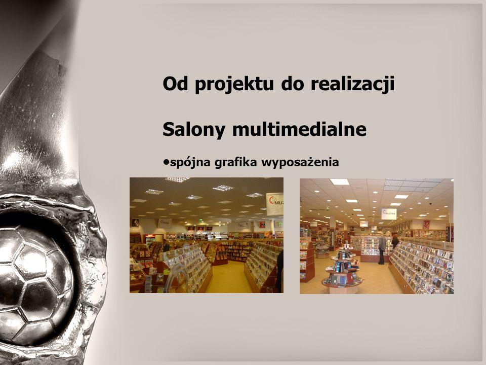 Od projektu do realizacji Salony multimedialne spójna grafika wyposażenia