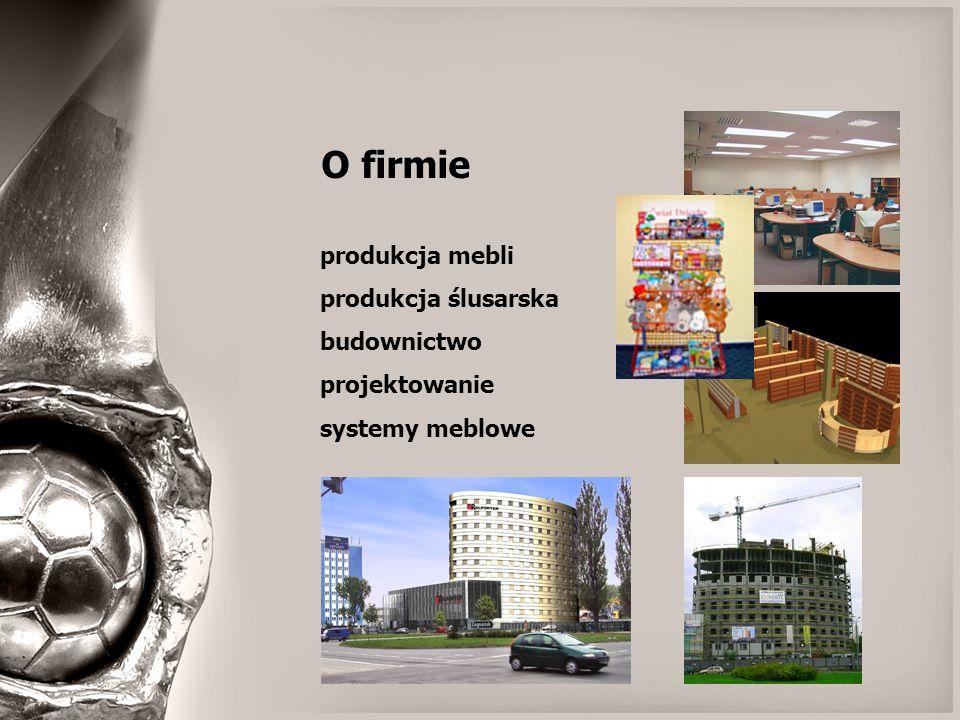 O firmie produkcja mebli produkcja ślusarska budownictwo projektowanie systemy meblowe