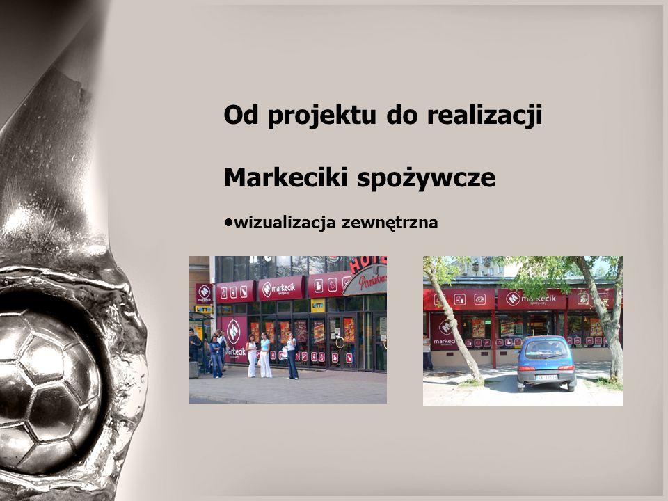 Od projektu do realizacji Markeciki spożywcze wizualizacja zewnętrzna