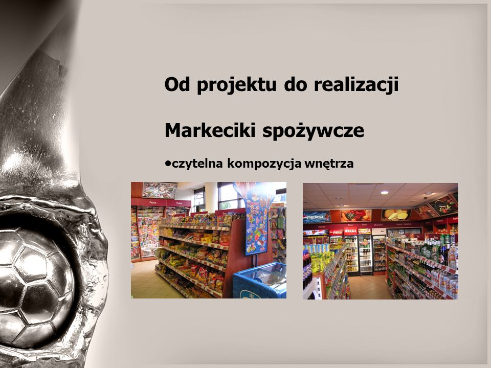 Od projektu do realizacji Markeciki spożywcze powtarzalny układ funkcjonalny