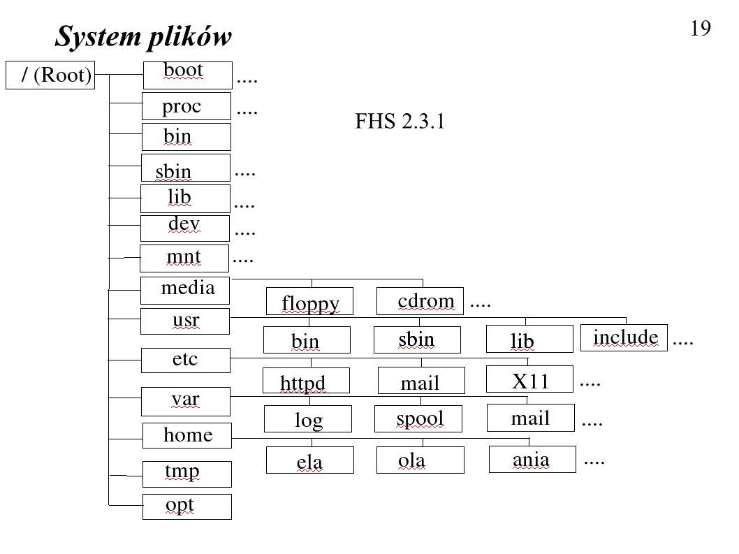 System plików 19 FHS 2.3.1