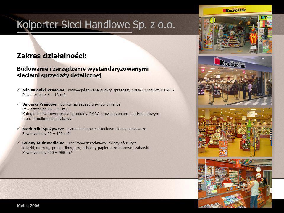 Minisaloniki Prasowe - wyspecjalizowane punkty sprzedaży prasy i produktów FMCG Powierzchnia: 6 – 18 m2 Saloniki Prasowe - punkty sprzedaży typu convi