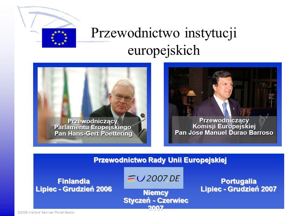 3/2005 Visitors´ Service / Polish Sector Przewodnictwo instytucji europejskich Przewodnictwo Rady Unii Europejskiej Finlandia Finlandia Lipiec - Grudz