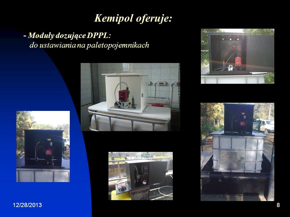 12/28/20138 - Moduły dozujące DPPL: do ustawiania na paletopojemnikach Kemipol oferuje: