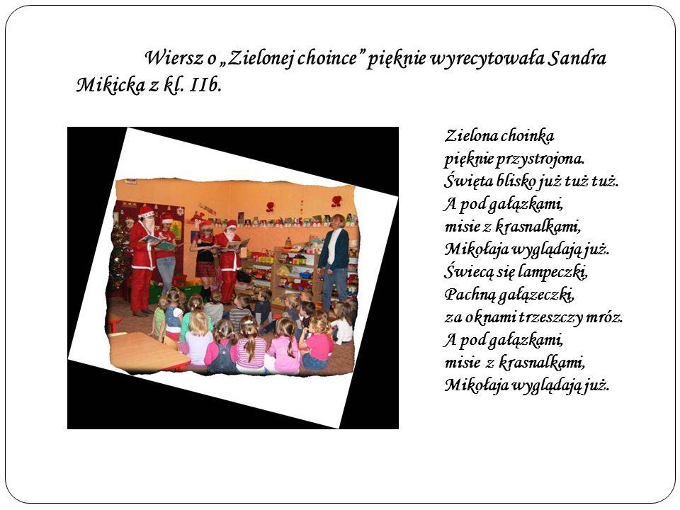 Dziewczyny zaśpiewały przedszkolakom także piosenkę Kochany Panie Mikołaju.