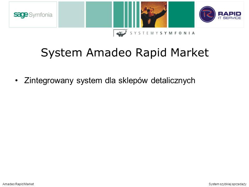 System Amadeo Rapid Market Zintegrowany system dla sklepów detalicznych Amadeo Rapid Market System szybkiej sprzedaży