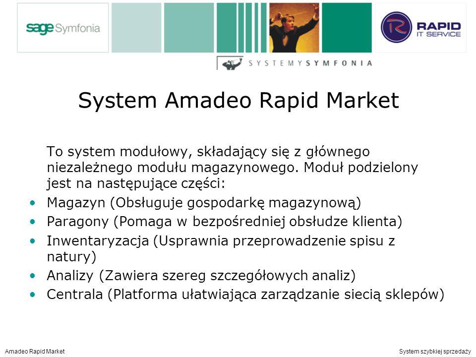 System Amadeo Rapid Market To system modułowy, składający się z głównego niezależnego modułu magazynowego.