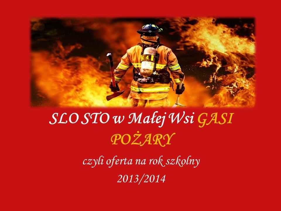 SLO STO w Małej Wsi GASI POŻARY czyli oferta na rok szkolny 2013/2014