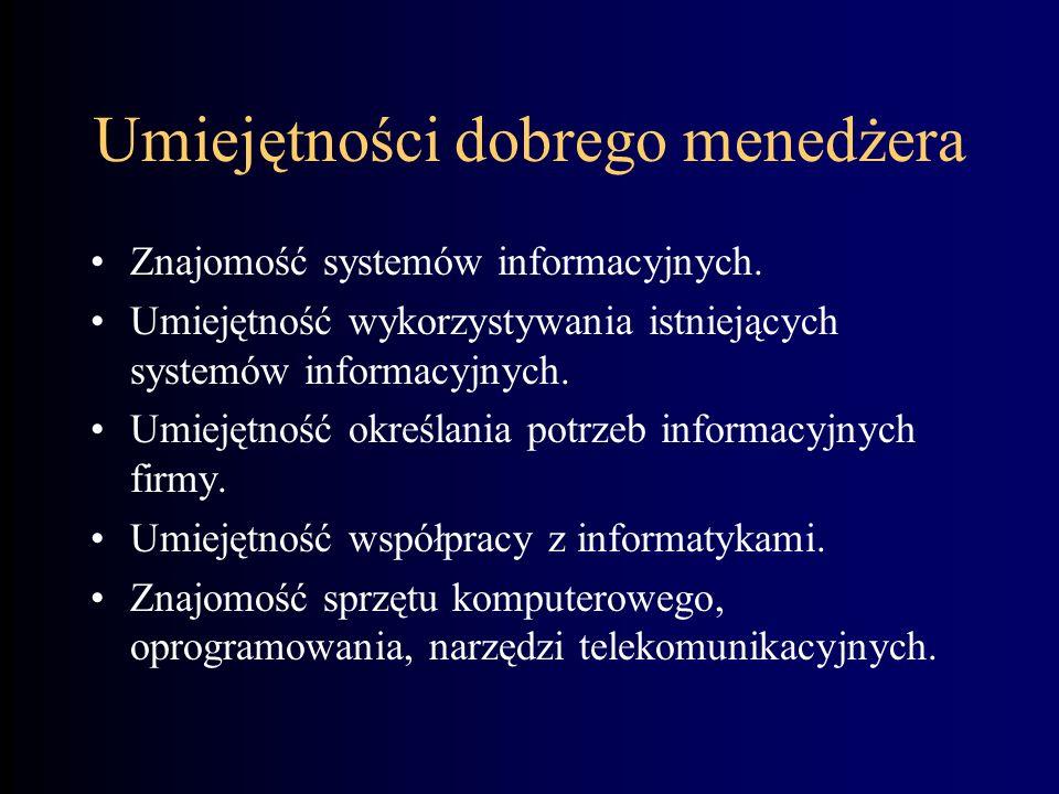 Systemy informacyjne w zarządzaniu Management Information Systems Oprac. Stanisław Lenkiewicz & M. Uczyński Wyższa Szkoła Zarządzania - The Polish Ope