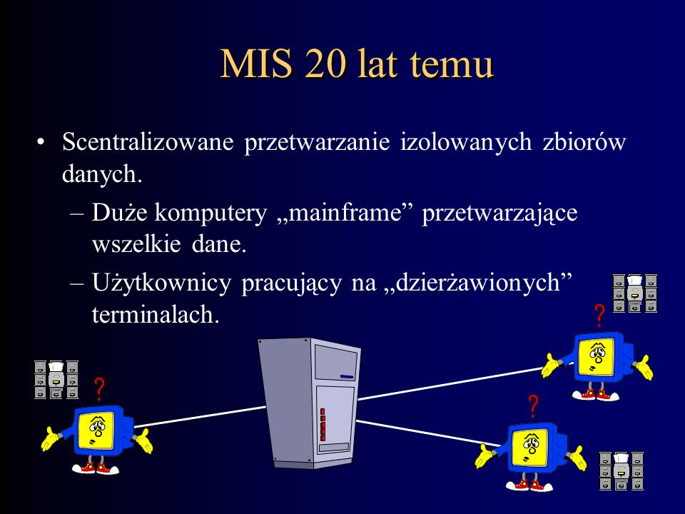 Czym jest współczesny system informacyjny? Układem złożonym ze sprzętu, oprogramowania i sieci komunikacyjnych wykorzystywanym przez ludzi w celu kier