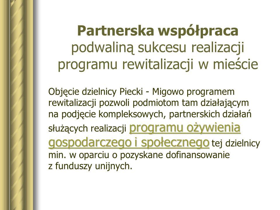 Dlaczego Piecki - Migowo blokowisko - osiedle monofunkcyjne brak funkcji miejskich stygmatyzacja społeczności lokalnej niski standard mieszkalnictwa olbrzymia luka remontowa ochrona środowiska wzrastający poziom ubożenia społeczeństwa niska przedsiębiorczość i mała różnorodność gospodarcza niezadowalający poziom bezpieczeństwa
