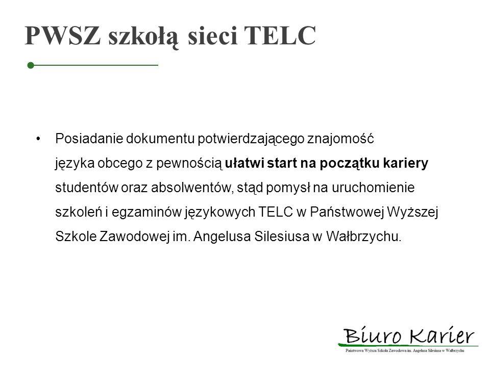 PWSZ szkołą sieci TELC Posiadanie dokumentu potwierdzającego znajomość języka obcego z pewnością ułatwi start na początku kariery studentów oraz absol