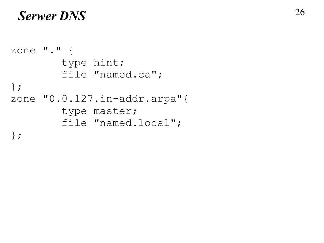 26 Serwer DNS zone