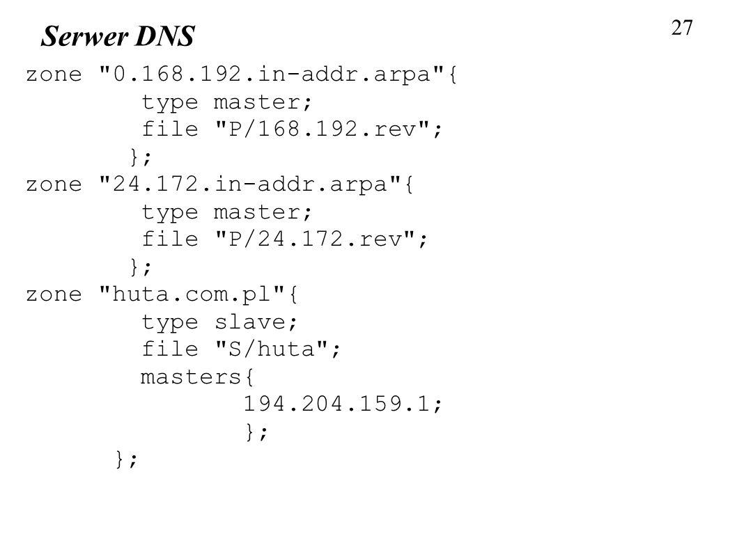 27 Serwer DNS zone