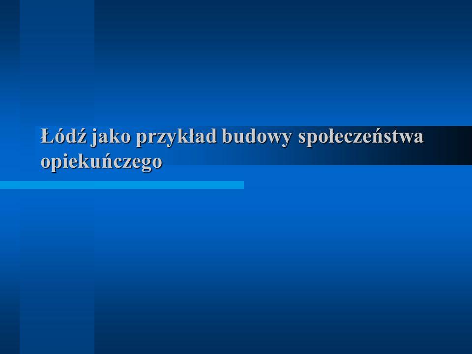 Łódź jako przykład budowy społeczeństwa opiekuńczego