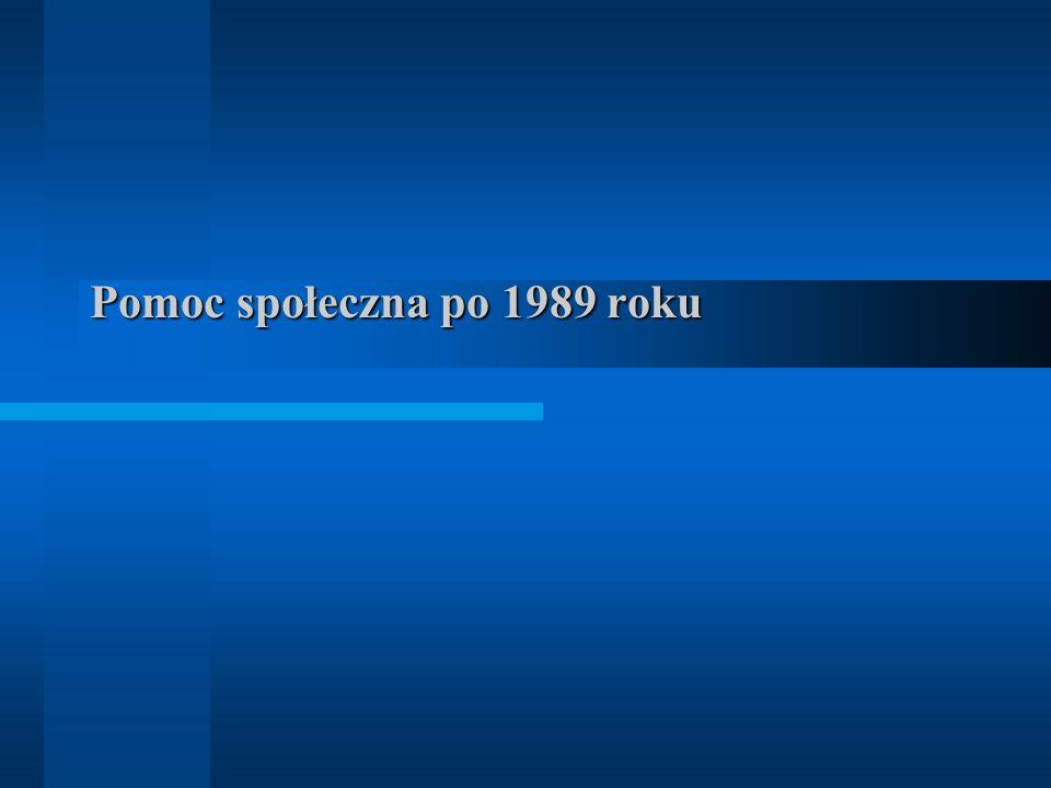 Pomoc społeczna po 1989 roku