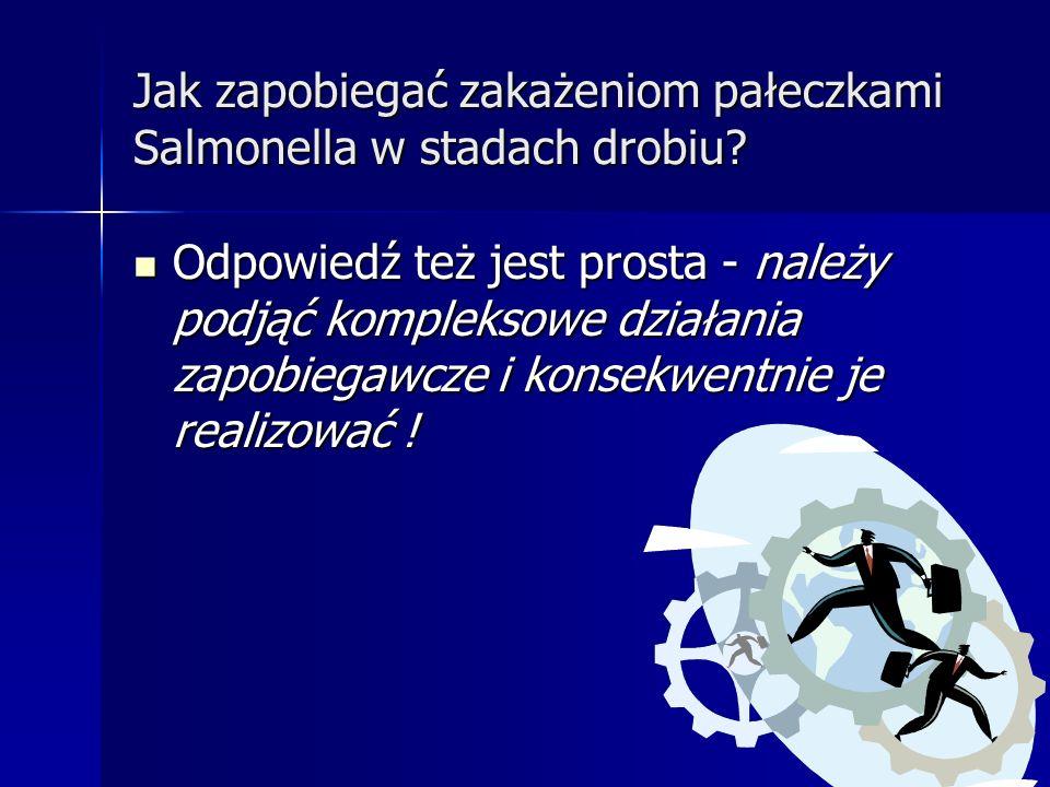Jak zapobiegać zakażeniom pałeczkami Salmonella w stadach drobiu? Czy prawo b ę dzie miało moc sprawcz ą !!