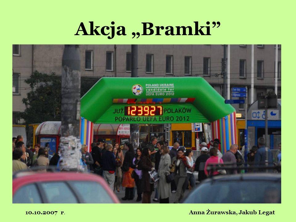 10.10.2007 r. Anna Żurawska, Jakub Legat Akcja Bramki