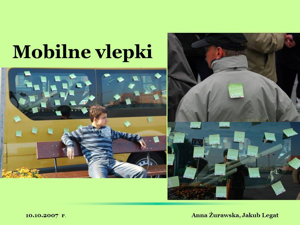 10.10.2007 r. Anna Żurawska, Jakub Legat Mobilne vlepki