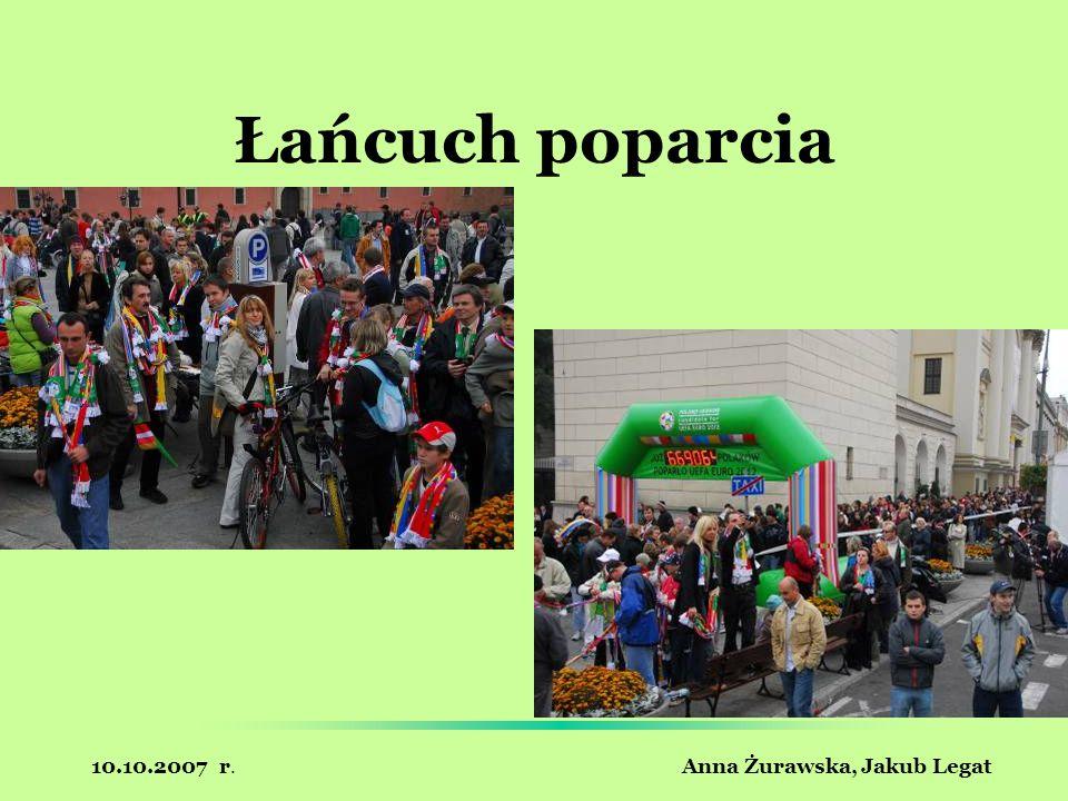 10.10.2007 r. Anna Żurawska, Jakub Legat Łańcuch poparcia