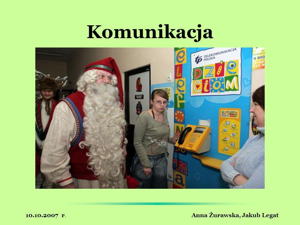 10.10.2007 r. Anna Żurawska, Jakub Legat Komunikacja